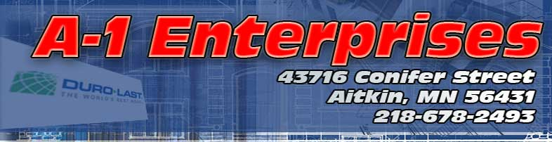 A-1 Enterprises DBA A-1 Roofing building contractor, Garage, Sheds, Additions, Decks, Remodeling, siding, window installer, door installation , roofing contractor, metal roofing, shingle roofing, epdm roofing, commercial roofing, shingled roofing contractor, duralast roofing installer